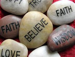 Belief stones
