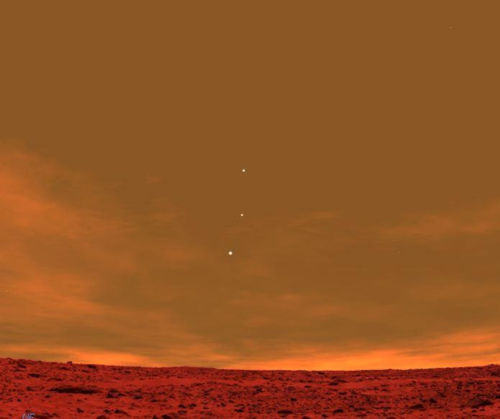 Earth Jupiter & Venus from the Mars skyline