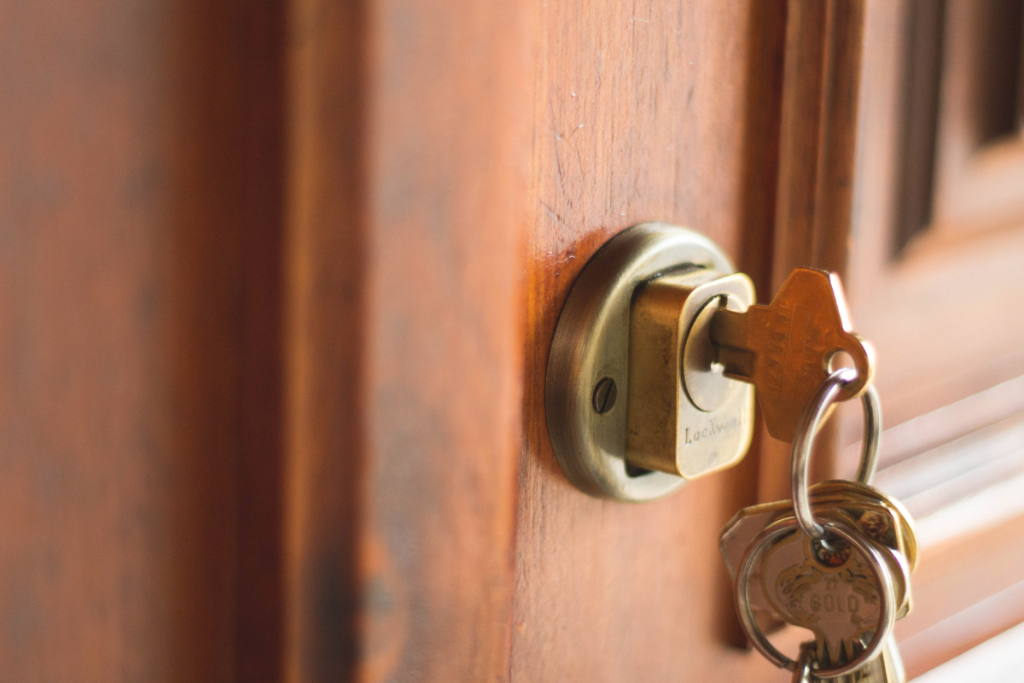Key in door & The Key to Unlocking the Door to Your Best Life (Thought Changer)